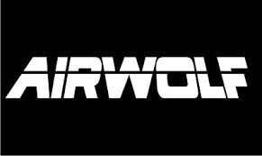 AIRWOLF (white letters on black background)