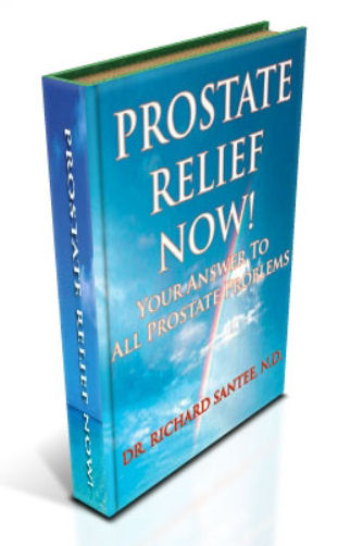 Prostate Relief Now! - Side Profile of book